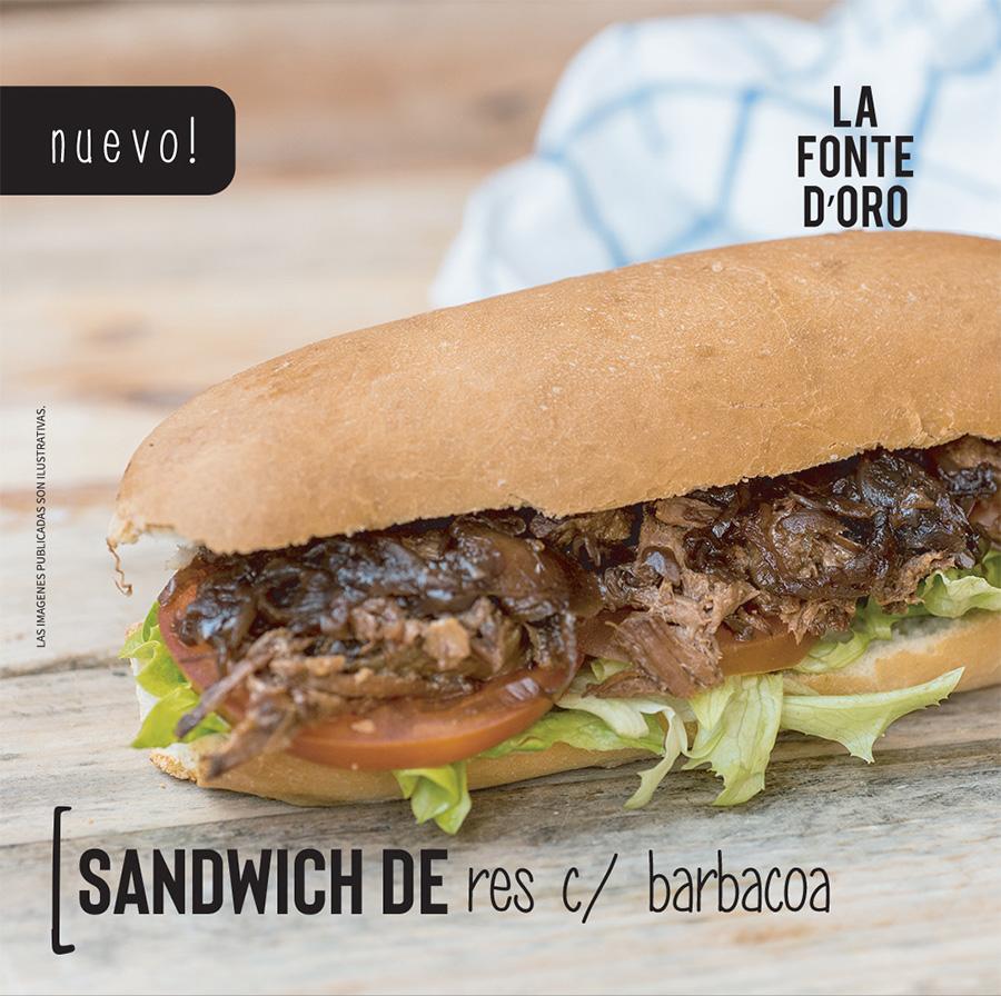 Nuevo Sándwich de res con barbacoa